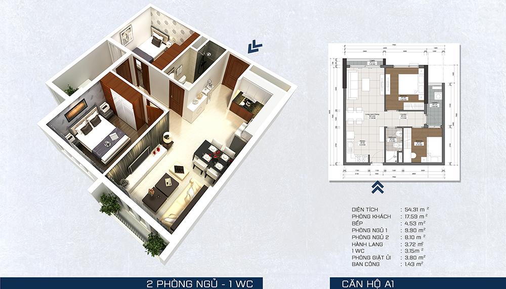 mặt bằng căn hộ 1pn the pegasuite 3 quận 7