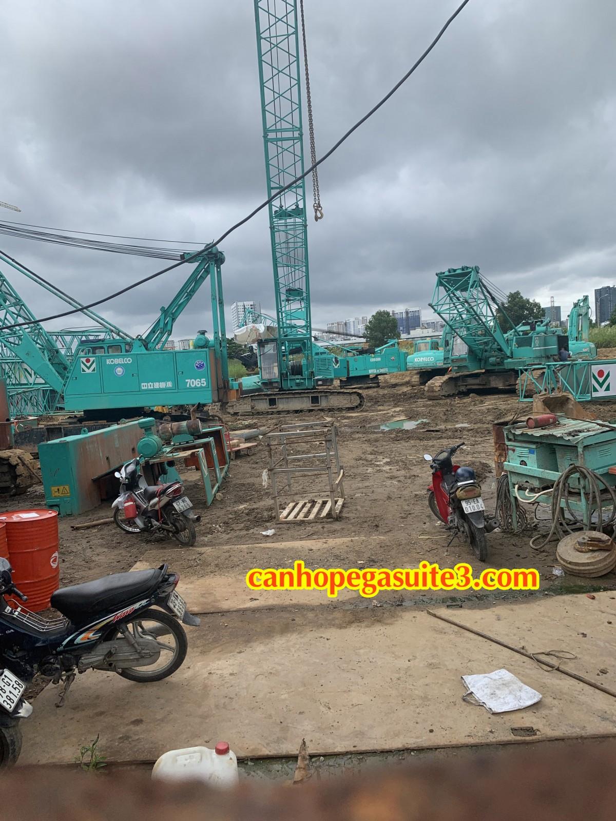 tiến độ xây dựng dự án căn hộ the pegasuite 3 quận 7